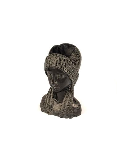 Mikasa Moor Siyah Kadın Resin Vazo 17x23cm Siyah